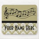 Banda o damasco personalizado coro de la música tapetes de ratón