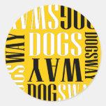 Banda oficial Merch de Dogsway Pegatina Redonda
