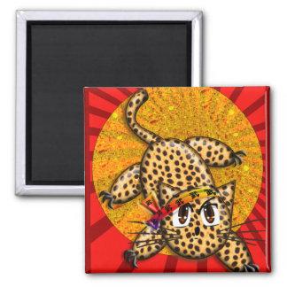 Banda principal del animado del leopardo del arco imán cuadrado