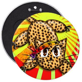 Banda principal del animado del leopardo del arco pin redondo de 6 pulgadas