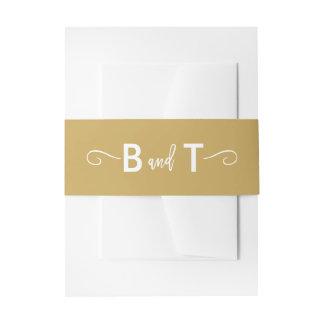 Banda puesta letras mano elegante del Belly de la Cintas Para Invitaciones