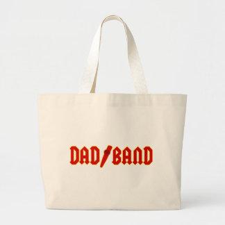 Banda roja del papá bolsa tela grande