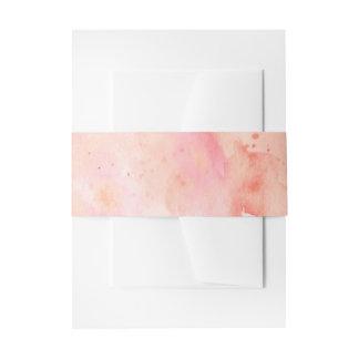 Banda rosada del Belly de la invitación del fondo Cintas Para Invitaciones