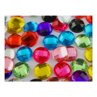 Bandada Bejeweled de botones moldeados Posters