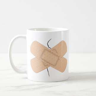 Bandage On A Crack Coffee Mug