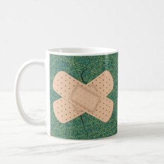 Bandage On A Crack Classic White Coffee Mug