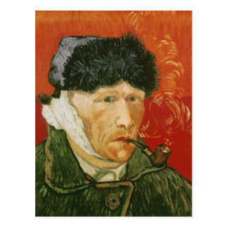 Bandaged Ear and Pipe, Vincent van Gogh Postcard