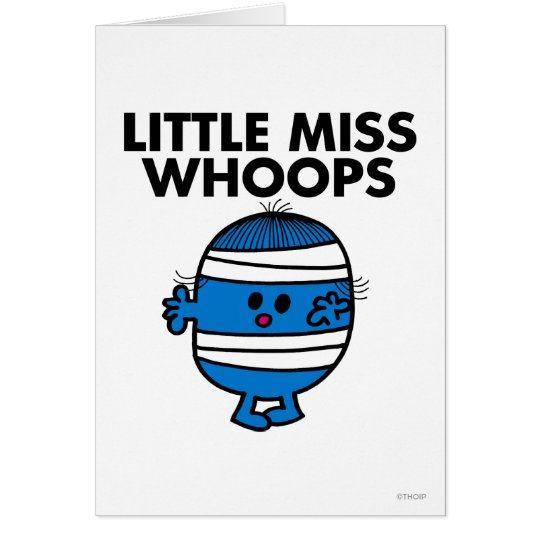 Bandaged Little Miss Whoops Card