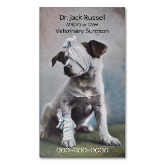 Bandaged terrier veterinarian magnetic business card