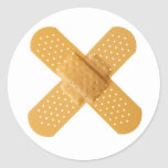 Bandages Classic Round Sticker