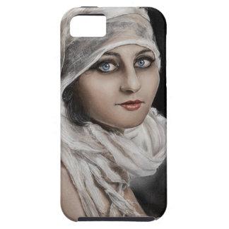 Bandages Classic Vintage retro Potrait Woman paint iPhone SE/5/5s Case