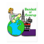 Bandaid or Coverup Postcards