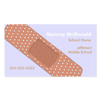 Bandaide School Nurse Business Card