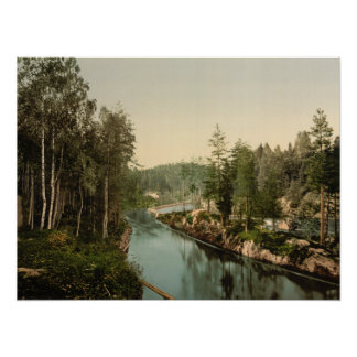 Bandak Canal, Telemark, Norway Archival Print