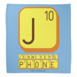 J JENNIFER'S PHONE  Bandana