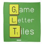 Game Letter Tiles  Bandana