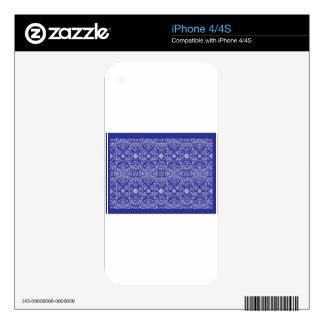 Bandana Blue Pattern Paisley iPhone 4 Skin