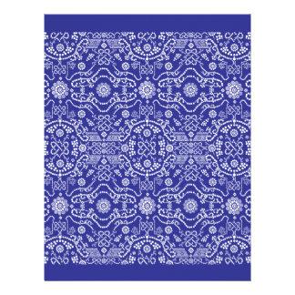Bandana Blue Pattern Paisley Letterhead