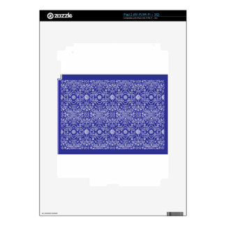 Bandana Blue Pattern Paisley Skins For iPad 2