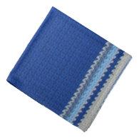 Bandana - Blue Stripes Crochet