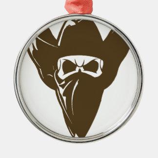 Bandana Cowboy With Hat Metal Ornament