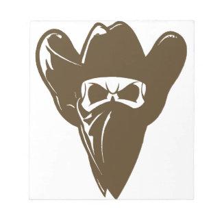 Bandana Cowboy With Hat Notepad