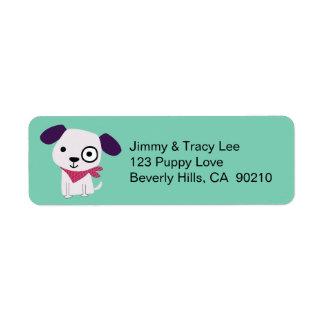 Bandana Doggy, Address Labels, light green Label