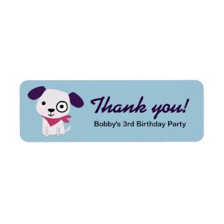 Bandana Doggy, Thank You Labels, blue Label