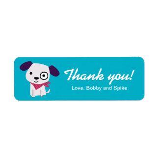 Bandana Doggy, Thank You Labels, turquoise Label