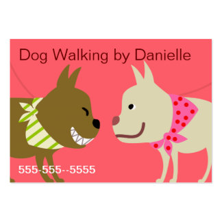 Bandana Dogs for Dog Care Business Large Business Card