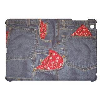 Bandana Faded Denim Jeans Print Pad Mini Case Case For The iPad Mini
