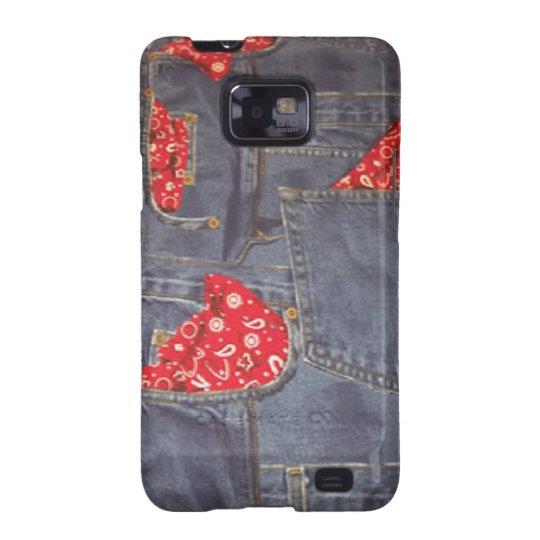 Bandana Faded Denim Jeans Samsung Galaxy S2 Samsung Galaxy S2 Cover