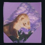 "Bandana funny ferret<br><div class=""desc"">A purple Bandana with the image of a ferret.</div>"