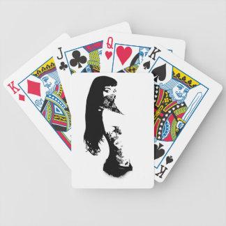 bandana girl bicycle playing cards