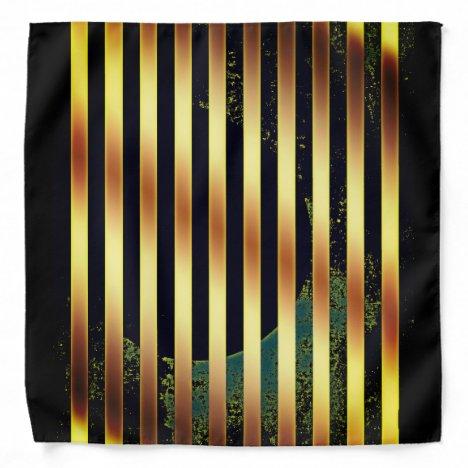 Bandana gold and black stripes.