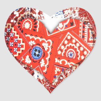 bandana heart heart sticker