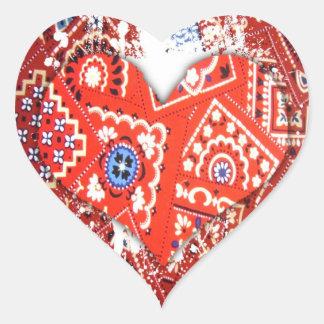bandana heart heart sticker