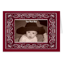 Bandana  Photo Greeting Card