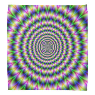 Bandana  Psychedelic Pulse in Purple and Green