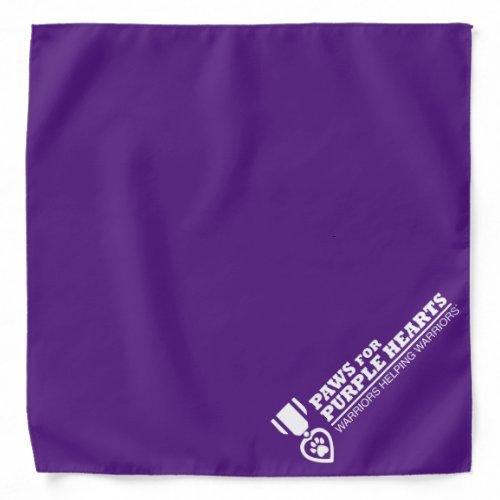 Bandana - purple with white logo