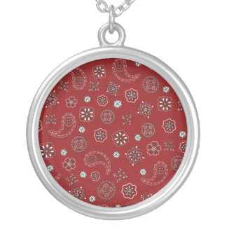 Bandana Silver Plated Necklace