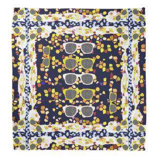 """Bandana """"Sunglasses Mosaic"""" Navyblue Multicolor"""