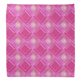 Bandana Sweet 16, Pink Love Diamonds Circle