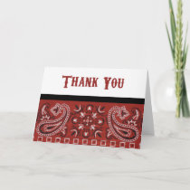Bandana Thanks Thank You Card