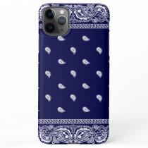 Bandana True Blue Phone Case iPhone 11Pro Max Case