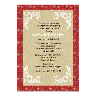 Bandana Wedding Invitation