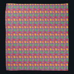 """Bandana with Autumn Leaves pattern<br><div class=""""desc"""">Purple Bandana with colorful Autumn Leaves pattern.</div>"""