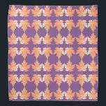 "Bandana with Autumn Maple Leaves pattern<br><div class=""desc"">Purple Bandana with colorful Autumn Maple Leaves pattern.</div>"