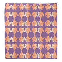 Bandana with Autumn Maple Leaves pattern