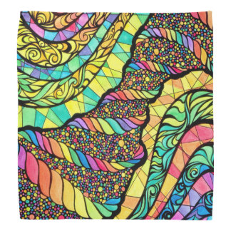 Bandana with Colorful Abstract Design